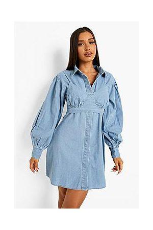 Boohoo Bralet Overlay Shirt Dress