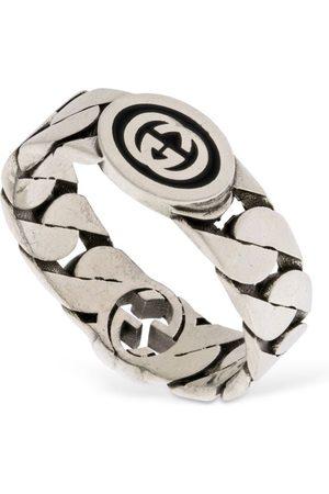 Gucci Wide Interlocking G Ring