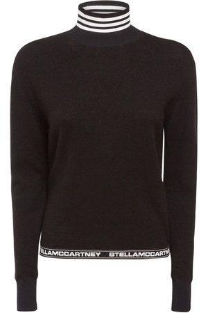 Stella McCartney Logo Virgin Wool Blend Knit Sweater