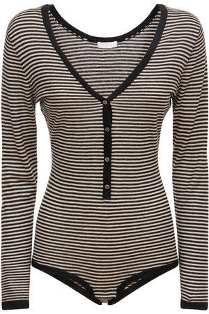 ERES Ecume Striped Cashmere Bodysuit