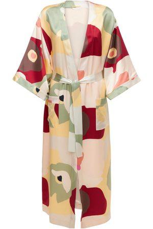 ERES Berries Printed Silk Long Robe