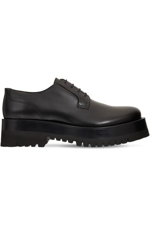 VALENTINO GARAVANI Chunky Leather Derby Lace-up Shoes