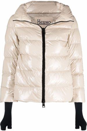 HERNO Slit-cuff puffer jacket