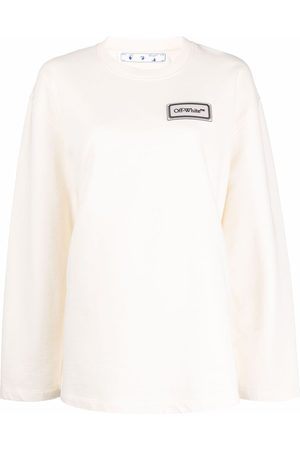OFF-WHITE Naiset T-paidat - Logo-patch long-sleeve top