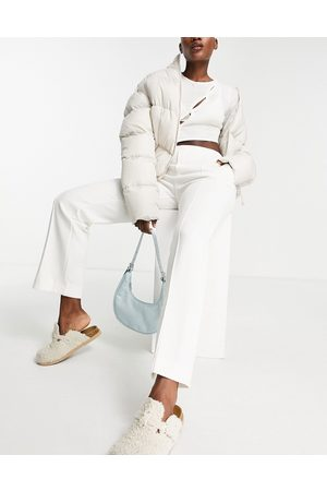 MANGO Tailored trouser co-ord in white