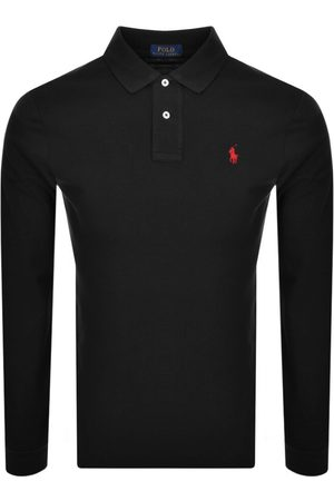 Ralph Lauren Miehet Pikee - Long Sleeve Polo T Shirt Black