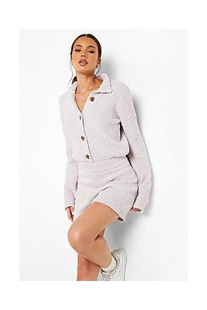 Boohoo Recycled Teddy Knit Playsuit