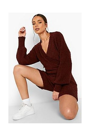 Boohoo Naiset Haalarit - Recycled Teddy Knitted Wrap Playsuit