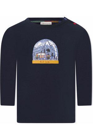 Paul Smith T-paidat - Snow globe-print long-sleeve top