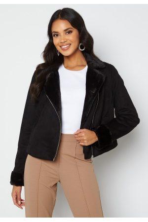 BUBBLEROOM Naiset Nahkatakit - Julia biker jacket Black 40