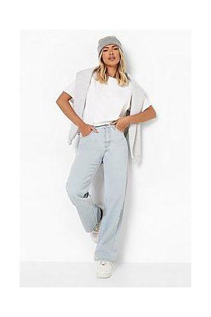 Boohoo Basics High Rise Wide Leg Jeans