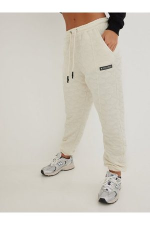 Missguided Naiset Collegehousut - The New Onion Quilted Tracksuit Jogger Cream
