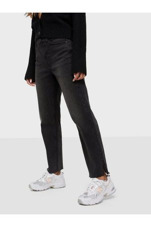 Pieces Naiset Suorat - Pcrico Hw Straight Cropped Jeans Bl