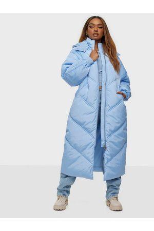 Pieces Naiset Untuvatakit - Pcfelicity Long Puffer Jacket Chambray Blue