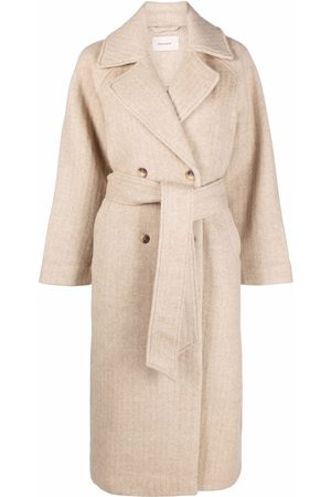 Holzweiler Naiset Trenssit - Double-breasted belted coat