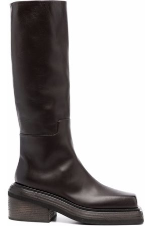 MARSÈLL Naiset Ylipolvensaappaat - Cassetto leather knee-high boots
