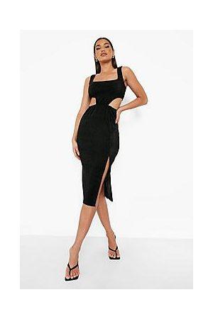 Boohoo Naiset Myötäilevät Mekot - Sparkle Cut Out Midi Dress