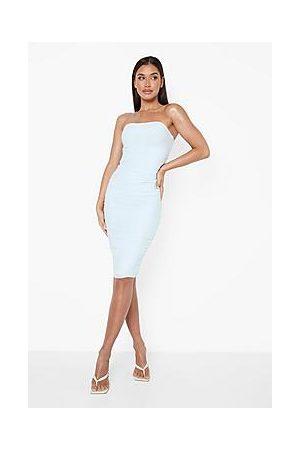 Boohoo Premium Bandage Ruched Bodycon Midi Dress
