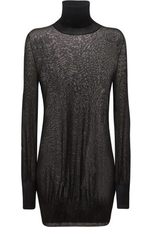 SAPIO Naiset Poolopaidat - Lamé Knit Turtleneck Sweater