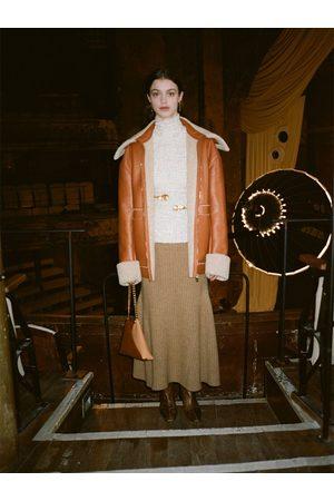 Nanushka Naiset Midihameet - Alyna Knitted Rib Wool Blend Midi Skirt