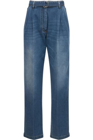 Peter Do Stretch Cotton Denim Belted Jeans