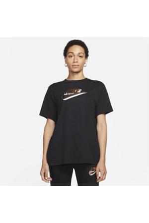 Nike Sportswear Essentials Women's Short-Sleeve Printed Top - Black