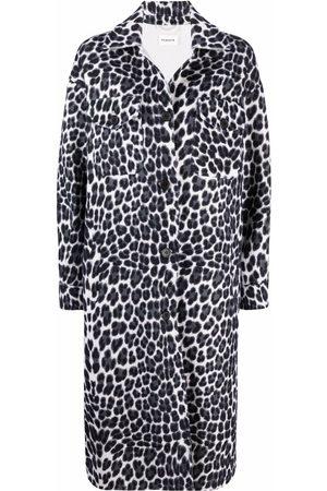 P.a.r.o.s.h. Leopard-print wool longline coat