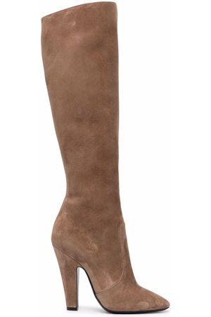 Saint Laurent Round-toe below-knee boots