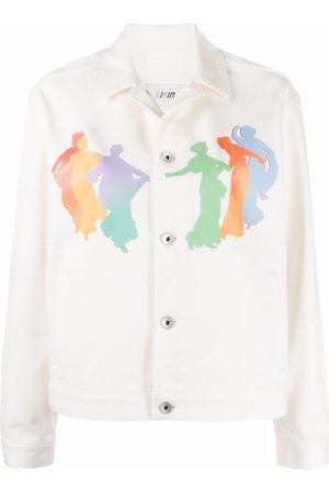 Kirin Naiset Farkkutakit - Graphic-print denim jacket