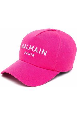 Balmain Naiset Hatut - Embroidered logo baseball cap