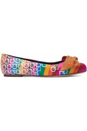 Salvatore Ferragamo Naiset Balleriinat - Varina upcycled printed ballerina shoes