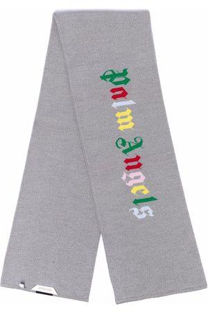 Palm Angels Huivit - Logo-print knit scarf