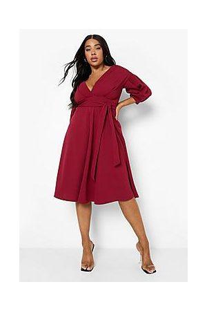 Boohoo Naiset Midimekot - Plus Off Shoulder Wrap Midi Dress