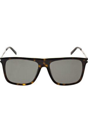 Saint Laurent Sl 495 Squared Mask Acetate Sunglasses