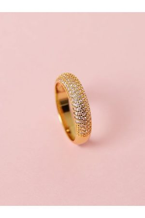 Muli Collection Naiset Sormukset - Pave Dome Ring