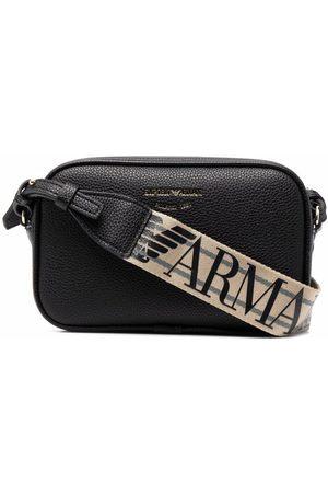 Emporio Armani Naiset Olkalaukut - Logo-print strap crossbody bag