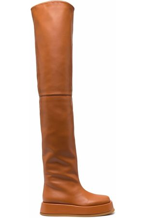 GIABORGHINI Rosie leather thigh-high boots