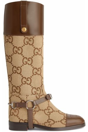 Gucci Knee-high GG boots