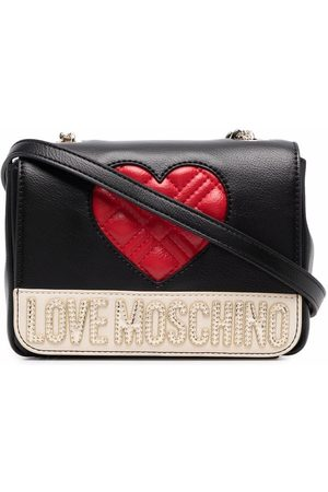 Love Moschino Quilted logo-plaque crossbody bag